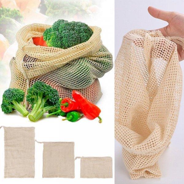 Хлопковая сетка  для овощей LNRRABC (3 размера)
