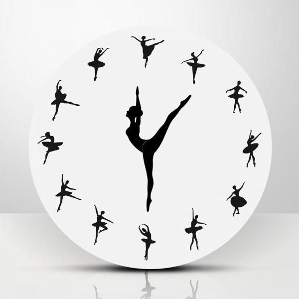 Оригинальные настенные часы Балерина The Geeky Days (30 см)
