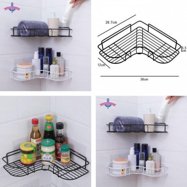 Оригинальная полочка в угол ванной (2 цвета)