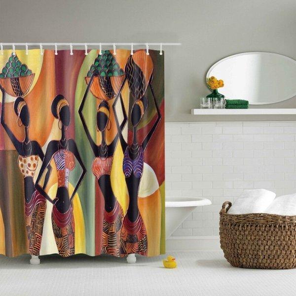 Непромокаемая шторка для ванной (10 принтов, 2 размера)