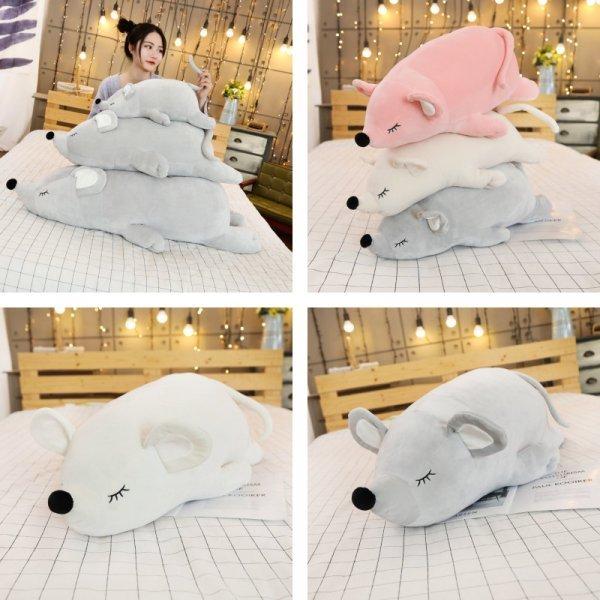 Плюшевая подушка Мышь от PERNYCESS (3 размера, 3 цвета)