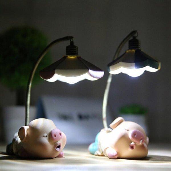 Спящая свинка - ночник от YUNLIGHTS (2 вида)