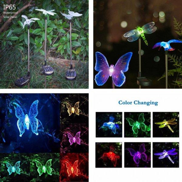 Светящиеся украшения для сада от GRN-FLASHING (набор 3 шт)