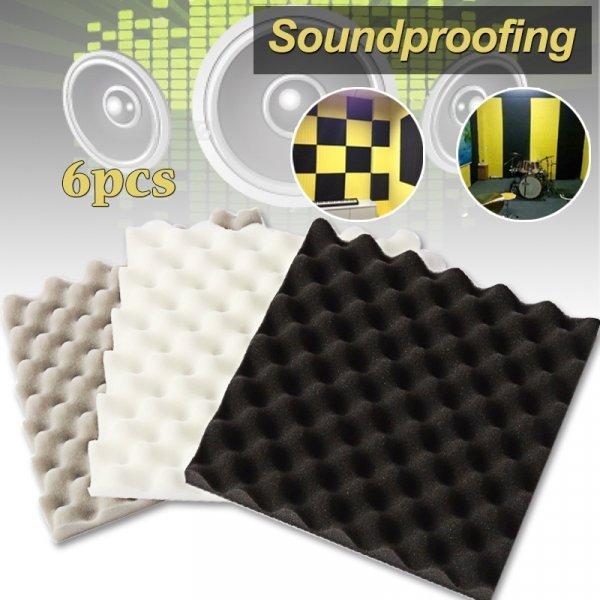 Звукоизоляционные панели от CARPENTER (6 шт, 30*30*4 см, 3 цвета)
