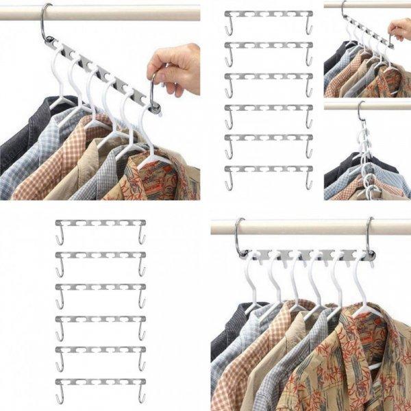 Вместительная вешалка для одежды 6 в 1 SANGEMAMA (2, 4 шт)
