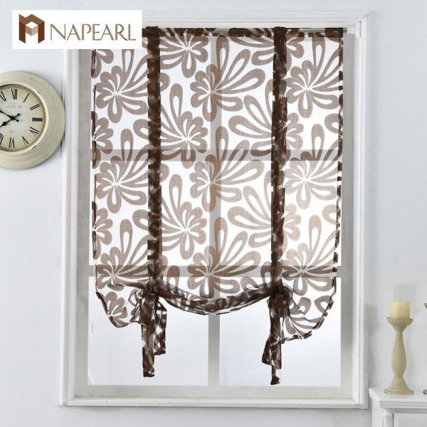 Изящная вуаль для окон кухни NAPEARL (4 рисунка, 4 размера)