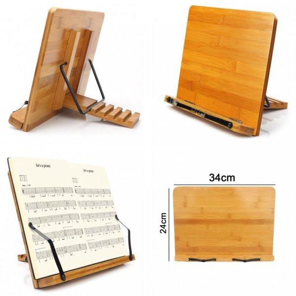 Регулируемая подставка для книг из натурального бамбука от HINMAY