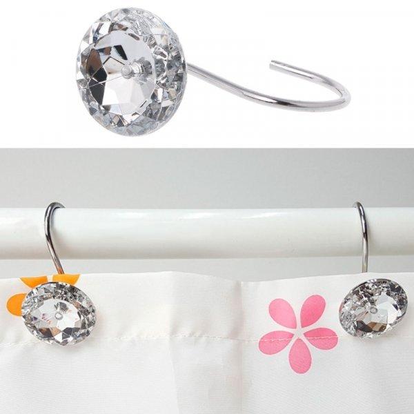 Крючки для шторки в ванной Кристалл от OOTDTY (12 шт)