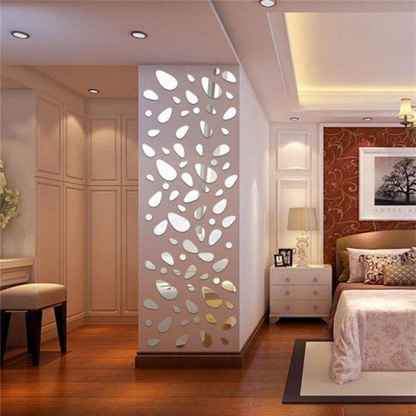 Зеркальные 3D стикеры на стену ISHOWTIENDA (12 шт, 3 цвета)