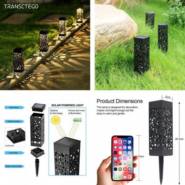 Садовые светодиодные светильники на дачу TRANSCTEGO (1, 4, 8 шт)