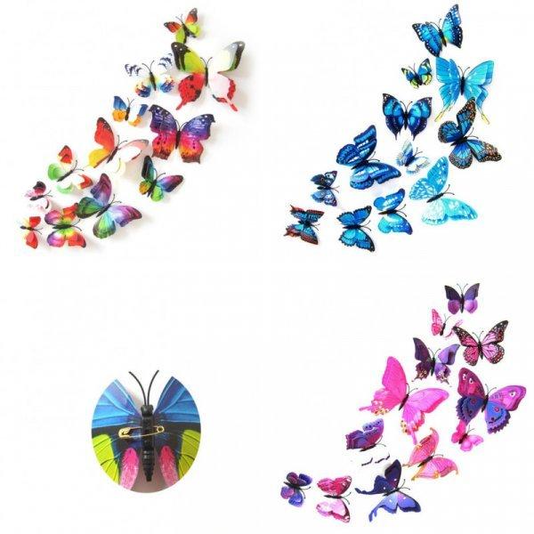 Украшение для штор Бабочки от NAI YUE (12 шт, 5 наборов)