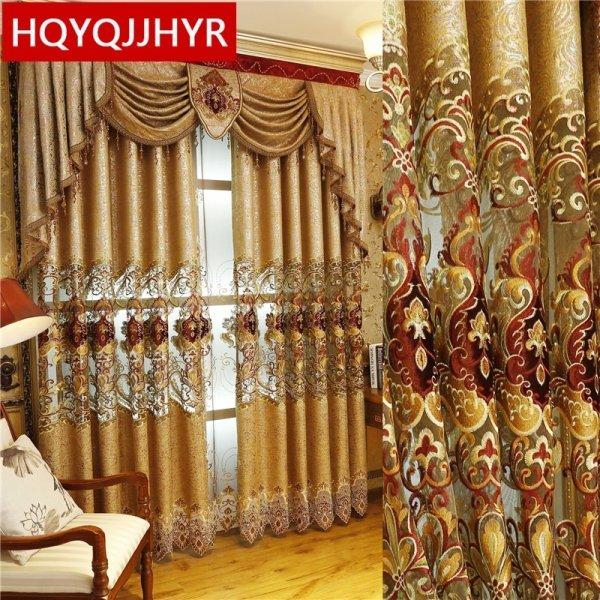 Золотые королевские шторы от HQYQJJHYR