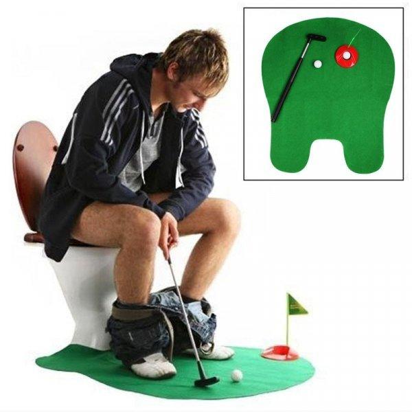 Мини гольф для туалета