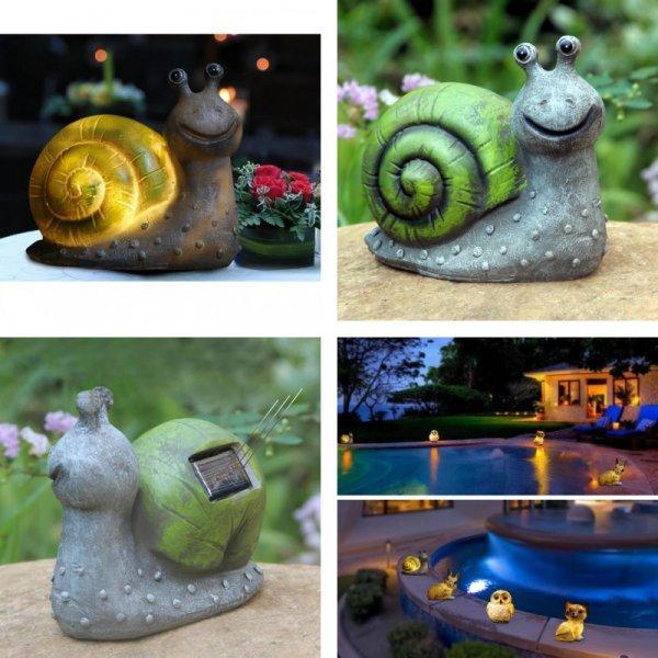 Светящаяся садовая фигурка Улитка от SOLLED