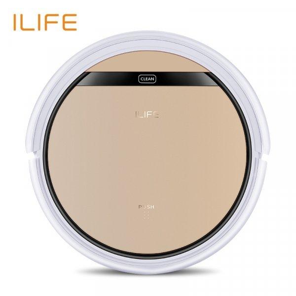 Бесшумный  робот-пылесос ILIFE V5s Pro поможет с уборкой (сухая и влажная уборка)