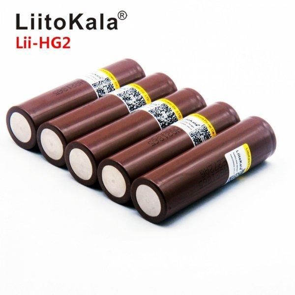Литиевые аккумуляторы LiitoKala 18650 до 3000 мАч для фонарика, пауэрбэнка, сигареты