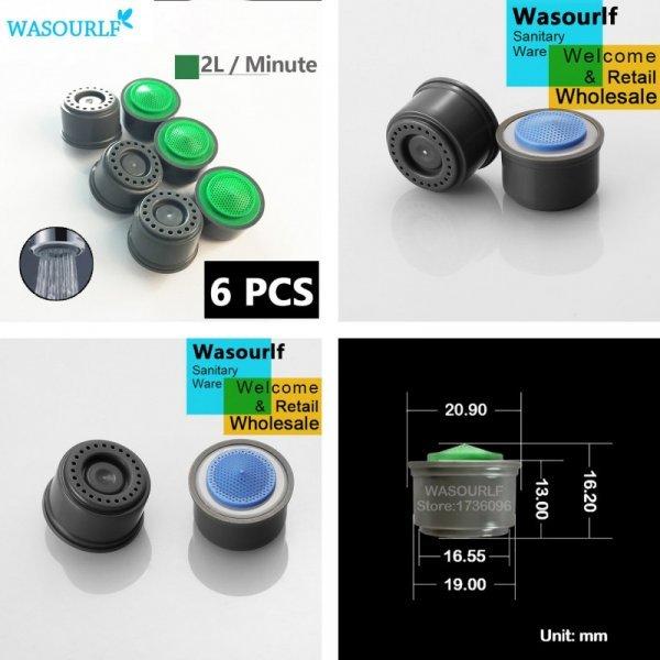 Внутренний аэратор для смесителя WASOURLF (6 шт, 2 мм)
