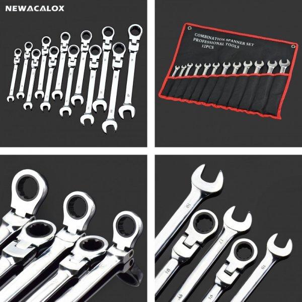 Набор гаечных ключей Newacalox на все случаи ремонта  (12 шт, 8-19 мм)