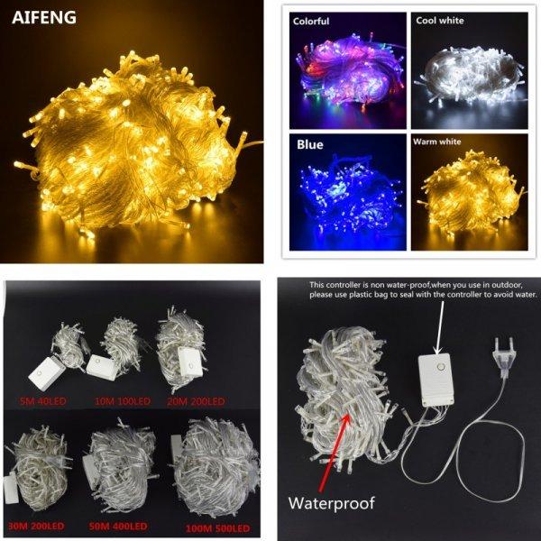 Яркая светодиодная гирлянда AIFENG  (от 5 до 100 м)