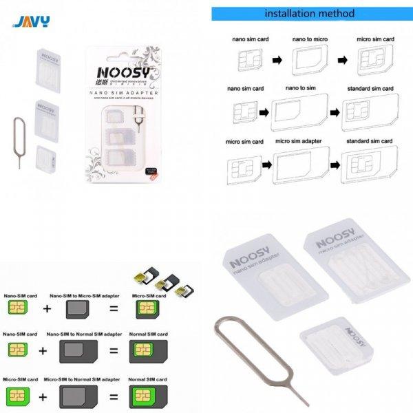 Набор адаптеров для симок JAVY Micro Nano