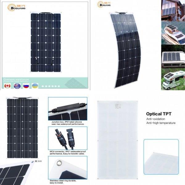 Фотоэлектрическая гибкая панель BOGUANG PV 16 В 100 Вт (1050*540*3 мм)