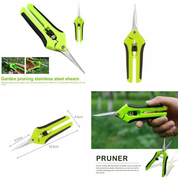 Садовые ножнички с тонким лезвием
