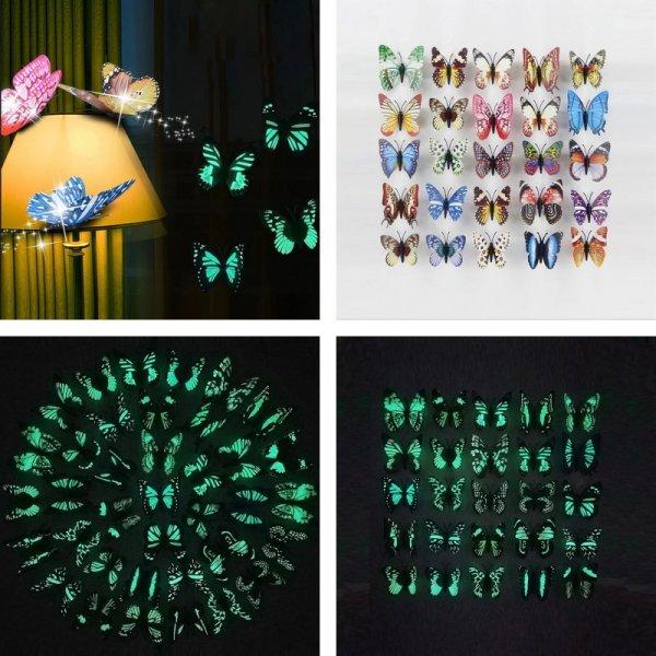 Набор светящихся бабочек