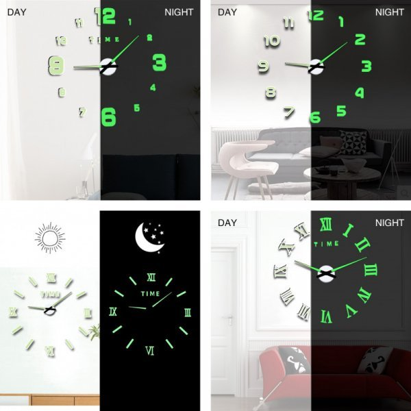 Люминесцентные часы от MEDITTIROSA (7 видов, 3 размера)