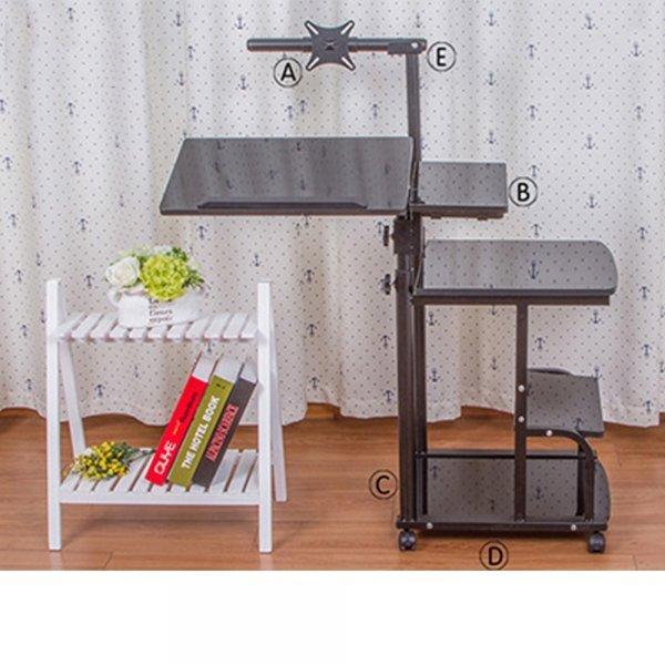Регулируемый компьютерный стол на колесиках от GEOMETRICS DREAM (3 цвета)