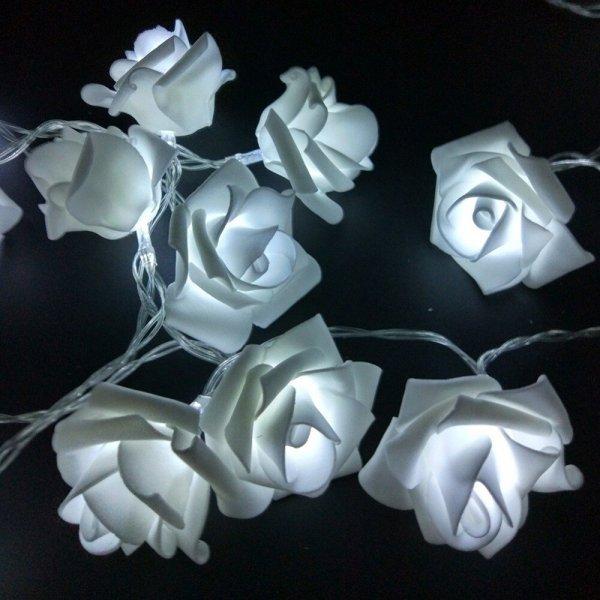 Гирлянда со светящимися розами от (2 цвета)