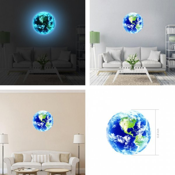 Светящиеся 3D-наклейки для детской комнаты, спальни