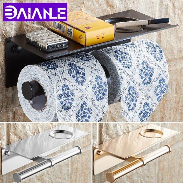 Удобный держатель туалетной бумаги на 2 рулона BAIANLE