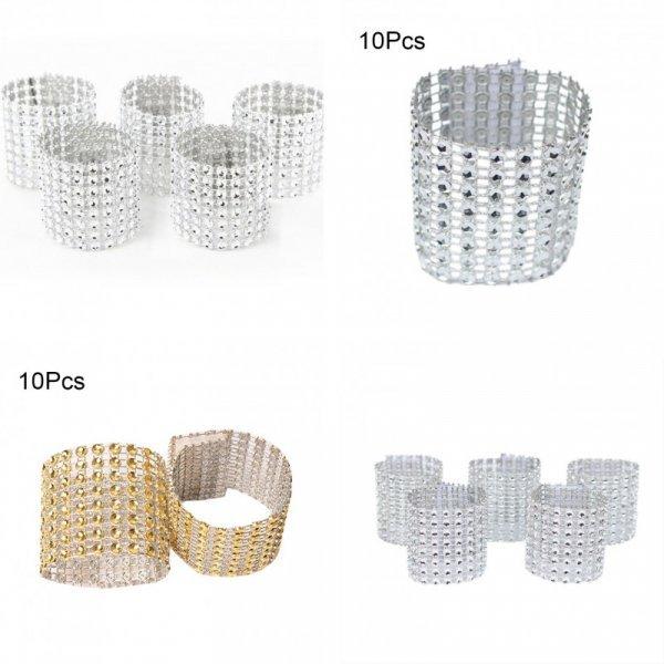 Набор шикарных колец на салфетку Aihogard (10 шт)
