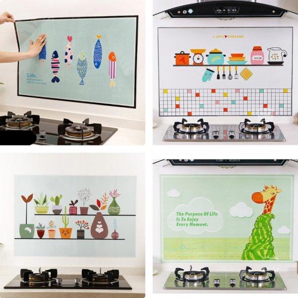 Износостойкий стикер на стену кухни HonC (5 видов)