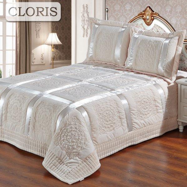 Набор текстиля для спальни Cloris (7 цветов, покрывало+2 наволочки)