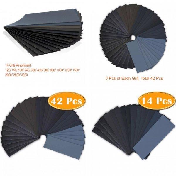 Комплект листов наждачной бумаги от NWAOBA