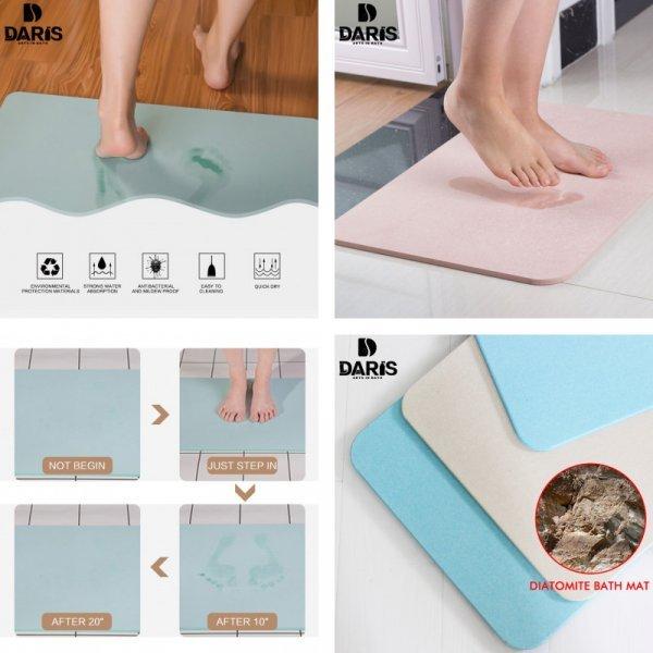 Диатомитовый коврик для ванной от SDARISB (2 цвета, 2 размера)