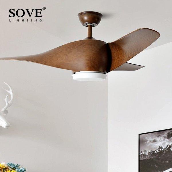 Люстра  LED с вентилятором с пультом ДУ от SOVE (6 цветов, 2 света)