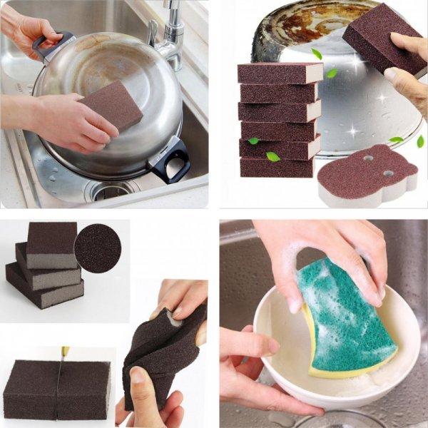 Губка от жира и накипи на посуде Basupply (3 размера)