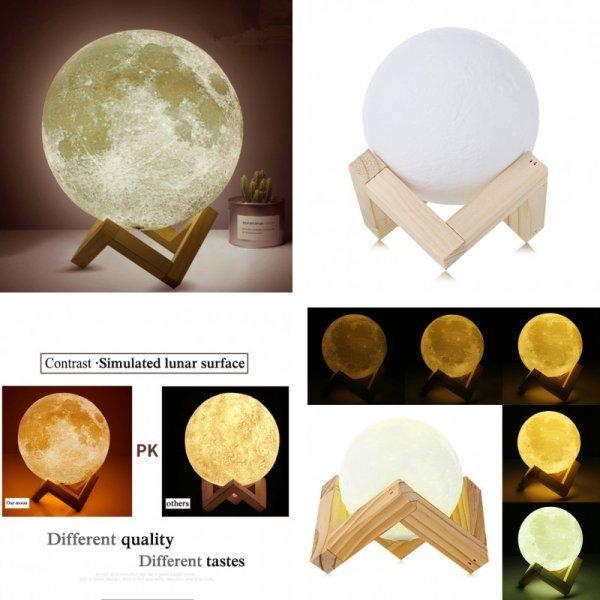Невероятный ночник Dikale 3D Луна ( USB, 8 см)