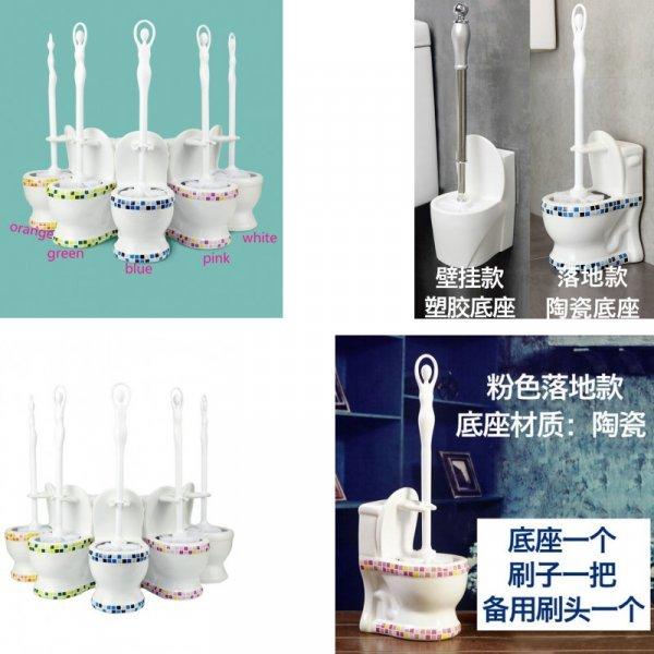 Ершик для унитаза в керамической подставке (5 цветов)