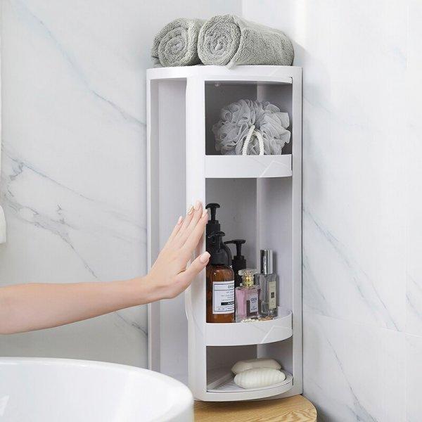 Поворотный стеллаж в ванную