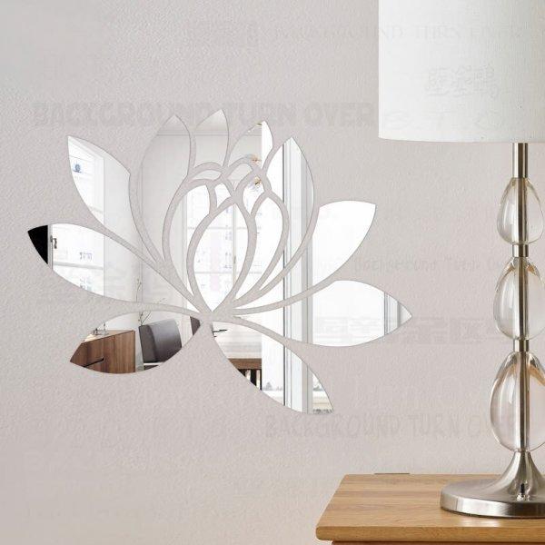 Зеркальные наклейки на стену PLANT (11 цветов, 5 размеров)