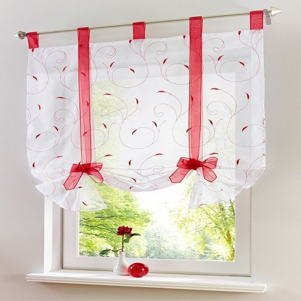 Струящаяся штора на кухню (5 размеров, 5 цветов)
