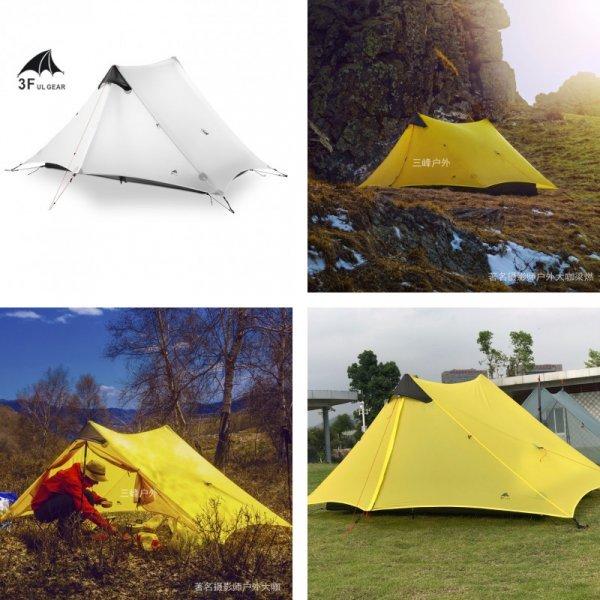 Кемпинговая палатка для 1 человека  3F UL GEAR (210*75*120 см)