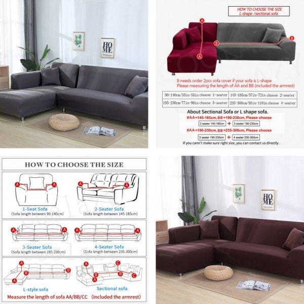 Секционный чехол для диванов от COОLAZY (4 размера, 11 цветов)