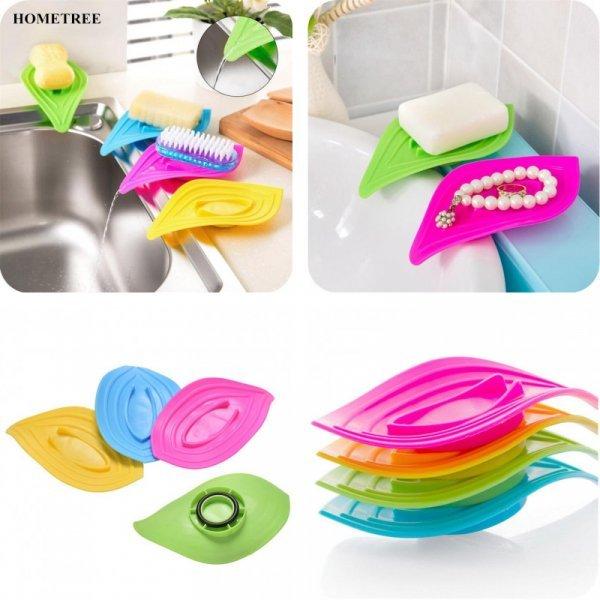 Мыльница Листик на кухню и ванну HOMETREE (4 цвета)