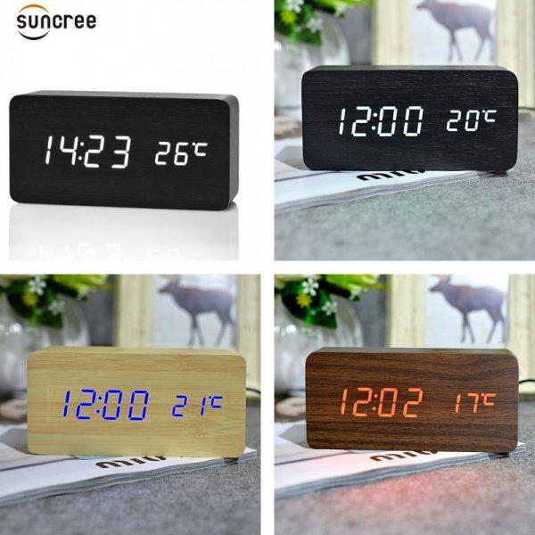 Настольные часы со звуковым управлением от SUNCREE (17 видов)