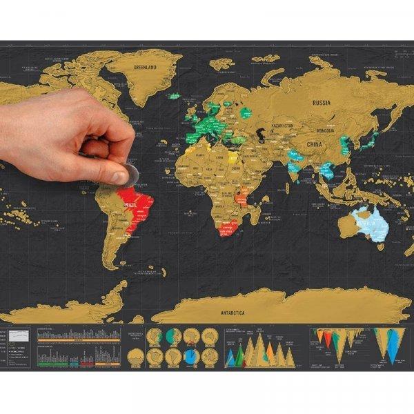 Уникальная карта мира для путешественника от WU FANG (4 вида)