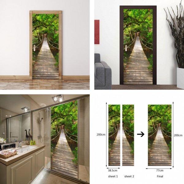Декоративная 3D наклейка на дверь HonC (38,5*200 см)